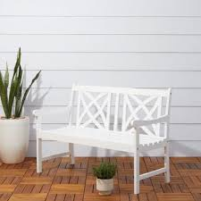 wood frame outdoor benches patio