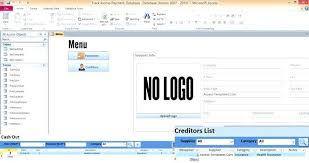 Microsoft Payroll Templates Ms Access Invoice Template Free Download Payroll Database