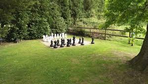 garden chess set. Woodlands Lodge Hotel: The Garden Chess Set