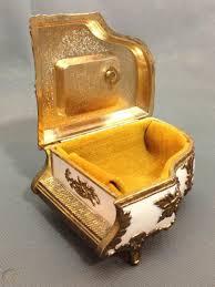 Miniature sankyo japan music box necklace pendant w/chain, works great. Vintage Sankyo Enamel Music Box Gold Trim Piano Jewelry Trinket Box Japan 1859156416