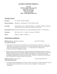 Sample Resume Analyst Programmer