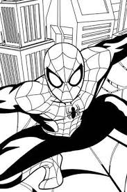 Small Picture Ultimate Spider Man Coloring Page Spider Man Activities Marvel