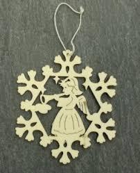 Holz Ornamente Schneeflocke Engel