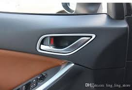 Inside car door handle Lock Chrome Inside Door Handle Trim Strips Frame For Mazda Cx Cx5 2012 2013 Door Knob Interior Mouldings Car Styling Really Cool Car Accessories Red Car Dhgatecom Chrome Inside Door Handle Trim Strips Frame For Mazda Cx Cx5 2012