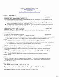 Fresh New Nurse Resume No Experience Awesome Perfect Nursing Resume