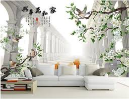 3d wallpaper custom mural non woven 3 d figure tv setting wall painting flowers and