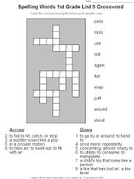 Spelling Words 1st Grade