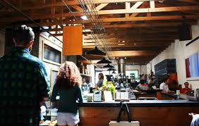 The ambience is really hipster and industrial. Visit Four Barrel Coffee In San Fran For A Great Pour Over The Travelling Squid