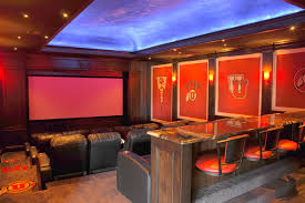 theater rooms home theater traditional with dark wood panels built in bar wall decals