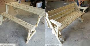 how to make folding bench and picnic table combo diy crafts handimania