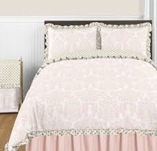stylish blush pink gold and white amelia 3pc full queen girls bedding full bedding sets plan