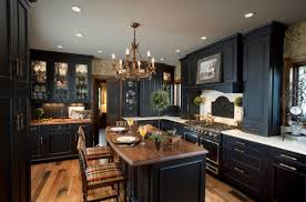 Beautiful Custom Black Kitchen Cabinets Dazzling Antique Howling Ideas In Innovation