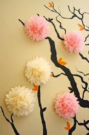 Paper Decorations For Bedrooms Apartment Cool Flower Cherry Blossom 3d Wall Mural Baby Nursery