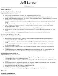 Nursing Resume Registered Nurse Template Word New Graduate