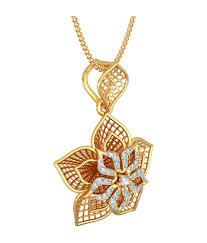 bluestone 18kt yellow gold diamond daffodil lattice pendant