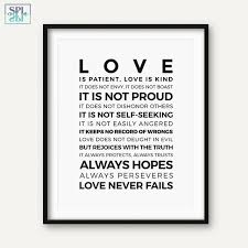 SPLSPL Bible Verse Quotes Posters And Prints Love Is PatientLove Is Enchanting Love Is Patient Love Is Kind Quote