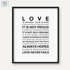 Love Is Patient Love Is Kind Quote Amazing SPLSPL Bible Verse Quotes Posters And Prints Love Is PatientLove Is