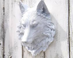 Wolf Head,Wolf Gifts,Wolf Decor,Wolf Wall Sculpture,Faux Taxidermy Head