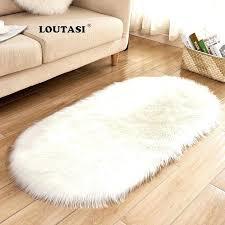 loutasi luxury oval soft sheepskin fluffy area rug faux white fur white fur carpet white fur large white fur rug white faux sheepskin