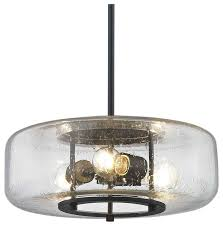 industrial seeded glass pendant light