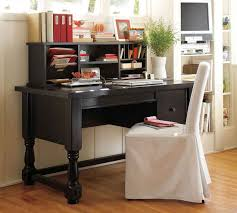 home office black desk. Awesome Pine Desks For Home Office In Contemporary Room Style : Mesmerizing White Cloth Covered Chair Black Desk S