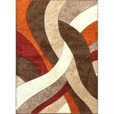 red and brown rug orange