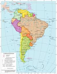 Население и политическая карта Южной Америки Политическая карта Южной Америки