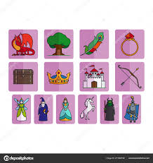 Elements Of A Fairy Tale Fairy Tale Elements Set Stock Vector Ssstocker 211669130