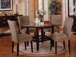 awesome round glass dining room sets round glass dining table set for 4 small kitchen table
