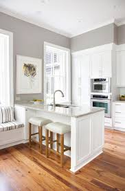 rustic oak wooden floors kitchen ideas for small kitchen looks classy with contemporary cabinets painted white