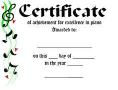 Piano Certificate Template 29 Images Of Music Recital Award Certificate Template Unemeuf Com