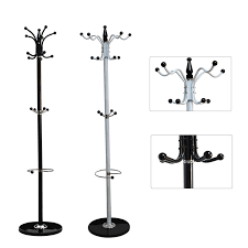 Image is loading Coat-Hanger-Hall-Storage-Rack-Umbrella-Stand-Clothes-