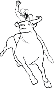 Small Picture Bull Rodeo coloring page Free Printable Coloring Pages