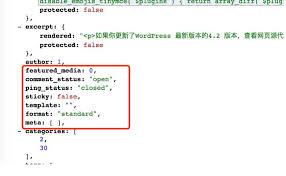 customized output of wordpress rest api