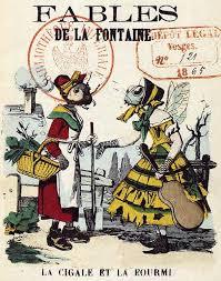 Illustration Dessin Image Couleur Fable De La Fontaine La Cigale