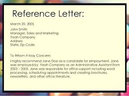 General Recommendation Letter For Employee Awesome Personal