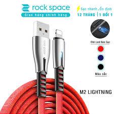 Cáp sạc cho iphone M2 có đèn led - Chính hãng Rockspace - Để Mai tính