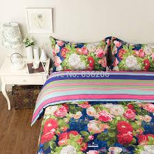 royal ikea style 100 cotton blue fl duvet cover bed sheet set 4pcs full queen king comforter bedding set free