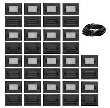 Malibu Led Deck Light Half Brick Black By Malibu Distribution 7 Watt 3 Pack Of Malibu 8301