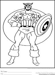 Kids Coloring Pages Avengers Download Page Captain America Winter