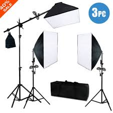 2400w 24 softbox light stand photo studio photography continuous lighting kit