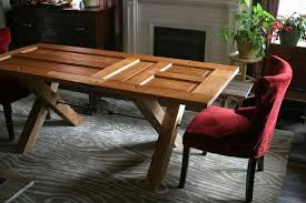 how to make a wooden dining room table