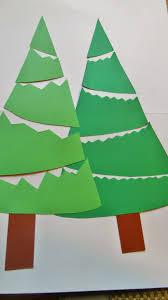 Tannenbäume Aus Tonpapier Einfache Bastelarbeit Für