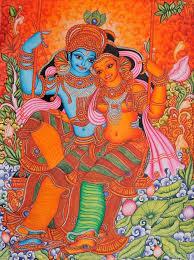 kerala mural paintings hd painting art elegant picture radha and krishna on swing folk style south
