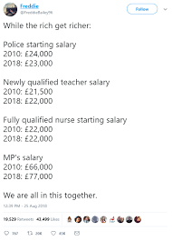 Pay Rises How Much Do Nurses The Police Teachers And Mps