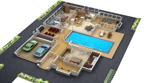 house floor plans 3d simple modern house floor plans small plans