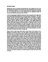 essay of teacher my english teacher essay