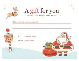 Free Christmas Gift Certificate Templates Microsoft Word Christmas Gift Certificate Templates Save Christmas 2
