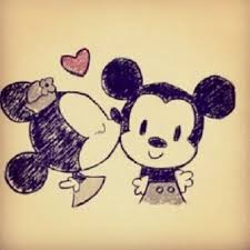 hugs kisskiss kiss kisses mickeymouse minniemouse