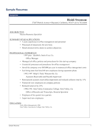 Sample Resume Of Office Manager Resume For Your Job Application